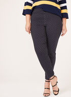 Printed Pull-On Slim Leg Pants, Blue, hi-res