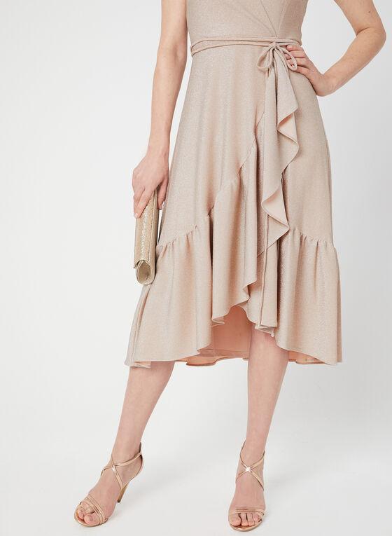 Jersey Glitter Dress, Pink, hi-res