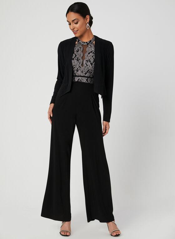 Lace Bodice Jumpsuit, Black
