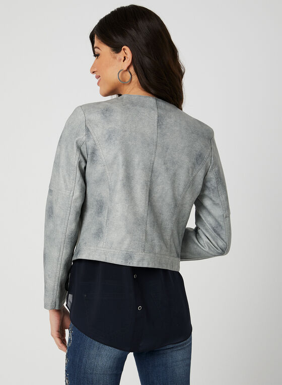 Ness - Faux-Leather Jacket, Grey, hi-res