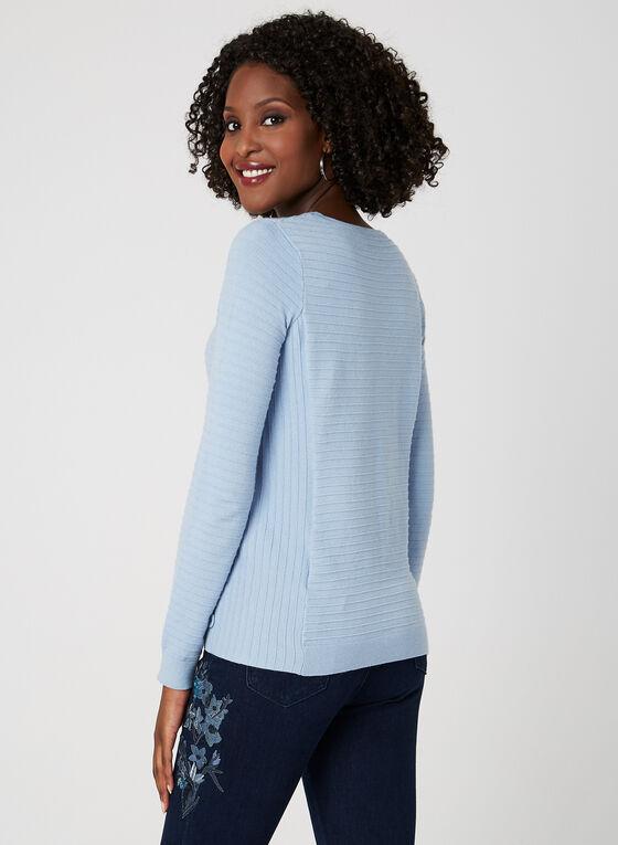 Ottoman Knit Sweater, Blue, hi-res