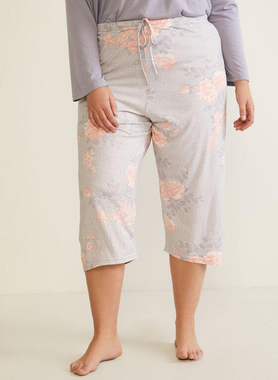 Ensemble pyjama à corsage plissé, Gris