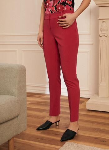 Pantalon coupe cité à jambe droite, Rose,  coupe cité, pantalon, jambe droite, sergé, plis, poches, printemps été 2021