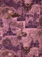 Foulard oblong motif villes, Violet, hi-res