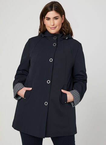 Hooded Raincoat, Blue,
