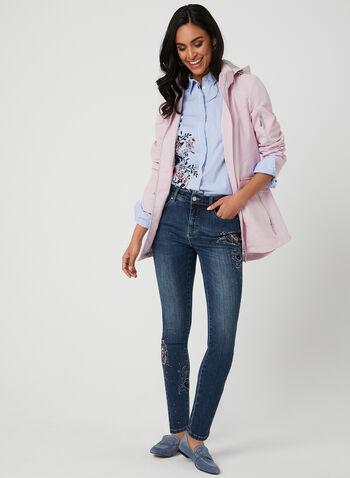 Water Resistant Raincoat, Pink,  wind resistant, removable hood, spring 2019, breathtex