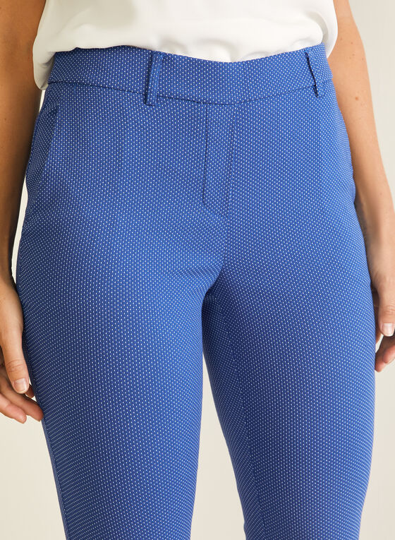 Dotted Print Pull-On Capris, Blue