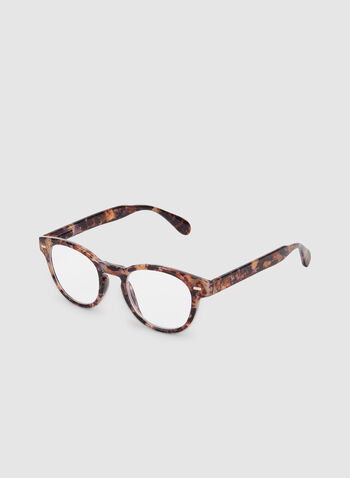 Round Frame Glasses, Multi, hi-res,  glasses, marble, plastic, fall 2019, winter 2019