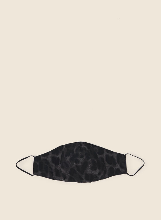 Leopard Print Mask, Black