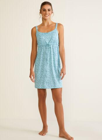 Empire Waist Nightgown , Blue,  fall winter 2020, nightgown, empire waist, pyjama