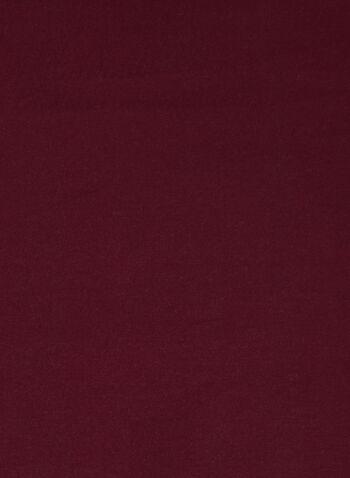 Foulard réversible à franges, Rouge,  automne hiver 2020, foulard, réversible, deux tons, bicolore, contrastant, accessoire, écharpe, franges