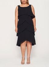 Crystal Embellished Tiered Dress, Black, hi-res
