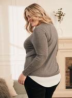 Long Sleeve Fooler Sweater, Grey