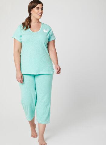 Bellina - Heather Print Pajama Set, Green, hi-res