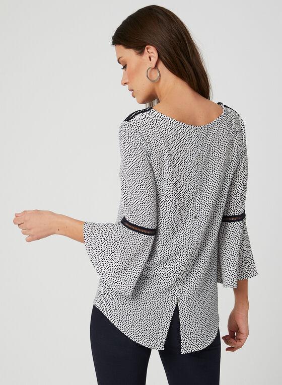 Vex - Dot Print Top, White, hi-res