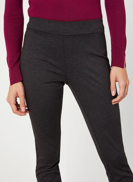 Modern Fit Check Print Pants, Black