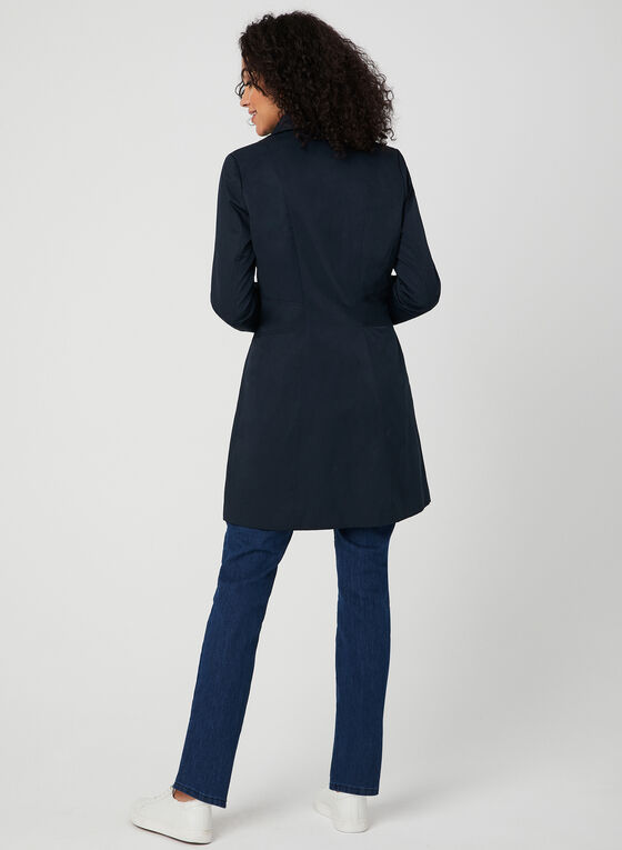 Anne Klein - Notch Collar Coat, Blue, hi-res