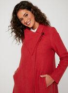 Asymmetrical Wool Coat, Orange, hi-res