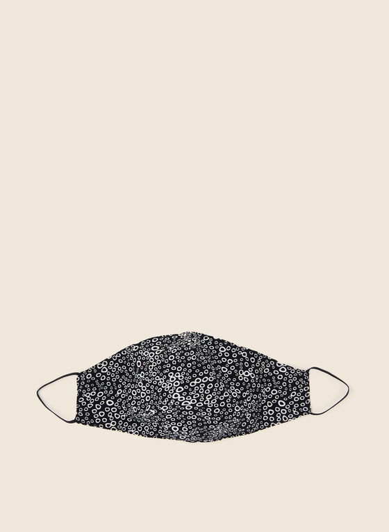 Pin Point - Circle Print Mask, Black