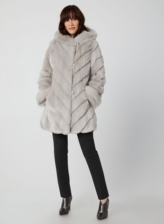 Nuage - Manteau en fausse fourrure, Argent