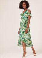 Cold Shoulder Faux Wrap Dress, Green, hi-res