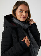 HFX - Faux Down Quilted Coat, Black