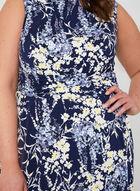Floral Print Jersey Dress, Blue, hi-res