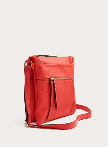 Company - Stitch Detail Crossbody Bag, Red, hi-res