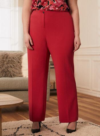 Modern Fit Wide Leg Pants, Pink,  pants, wide leg, mid rise, modern fit, crepe, pleats, spring summer 2020