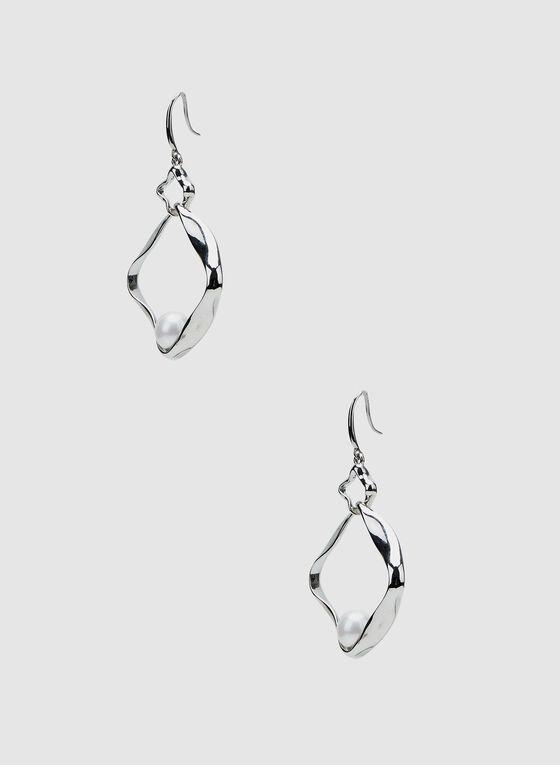 Pearl Insert Earrings, White