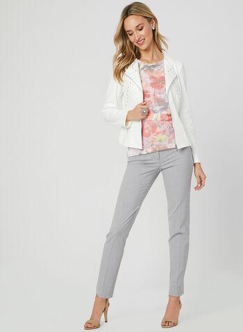 Alison Sheri - Floral Print Top, White, hi-res