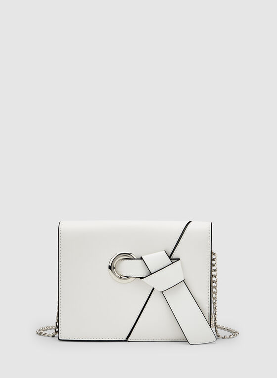 Knot Detail Crossbody Bag, White