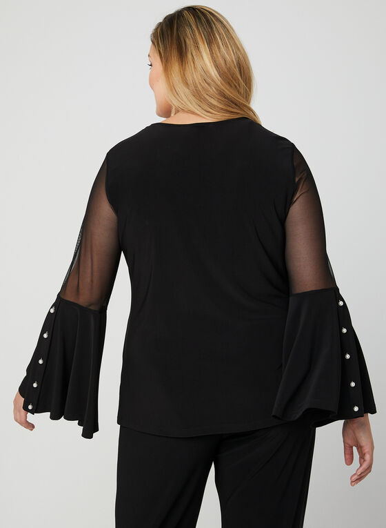 Frank Lyman - Bell Sleeve Blouse, Black, hi-res