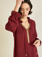 Embellished Collar Blouse, Red