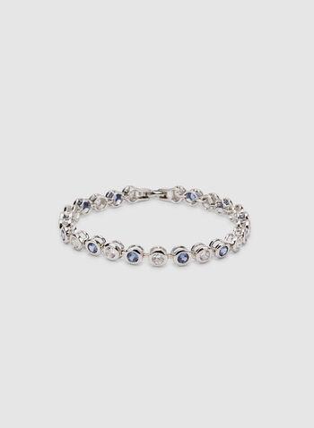 Bracelet à cristaux, Bleu, hi-res