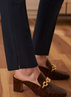 Louben - Straight Leg Pants, Blue