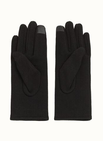 Cotton Blend Butterfly Appliqué Gloves, , hi-res