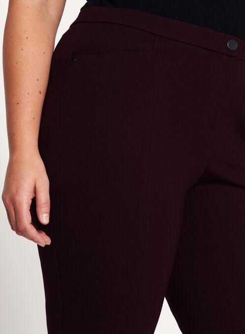 Pantalon coupe signature à jambe étroite, Pourpre, hi-res