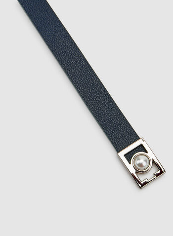 Elastic Interlock Belt, Blue, hi-res
