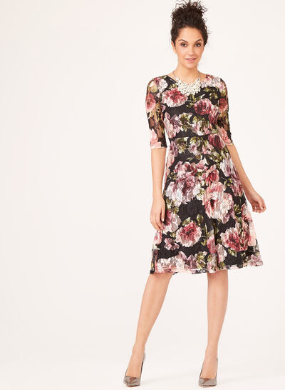 Floral Print Day Dress