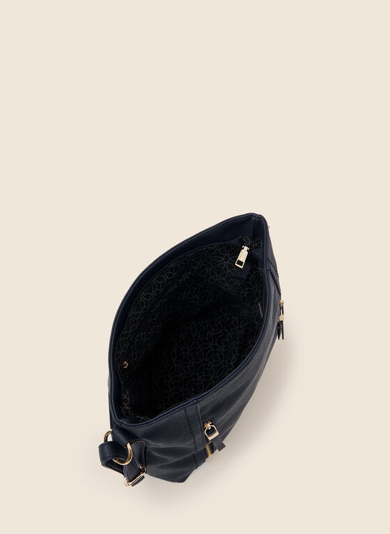 Zipper Detail Crossbody Bag, Blue