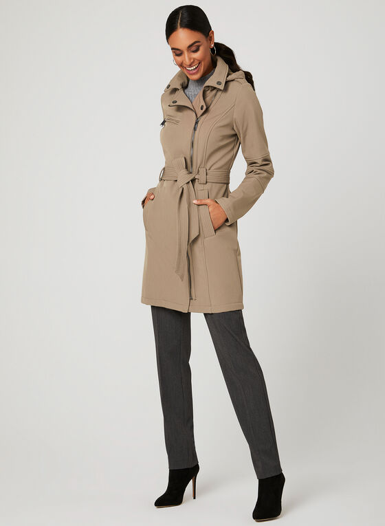 BCBGeneration - Lapel Collar Trench Coat, Brown, hi-res