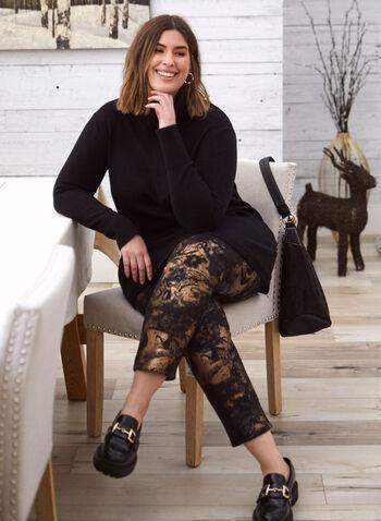 Pantalon motif métallique à enfiler, Noir,  pantalon, jambe métallique, pull-on, automne hiver 2020