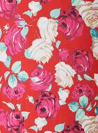 Rose Print Lightweight Scarf, Blue