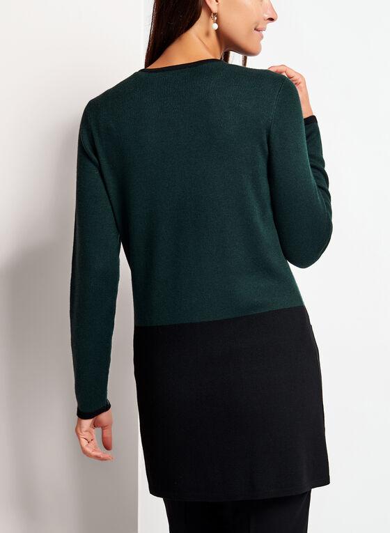 Long Sleeve Colour Block Cardigan , Black, hi-res