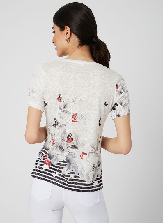 Printed Burnout T-Shirt, Black