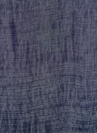 Foulard pashmina oblong, Bleu, hi-res