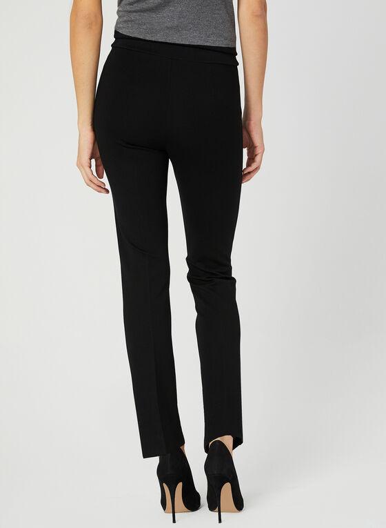 Pantalon coupe cité à jambe étroite, Noir, hi-res