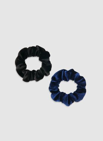 Velvet Scrunchy Set, Blue, hi-res,  velvet, scrunchy, elastics, holiday, fall 2019, winter 2019