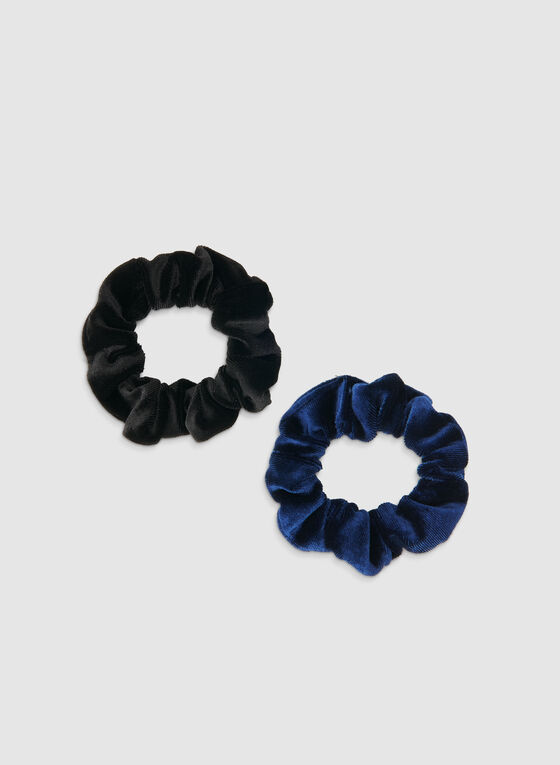 Velvet Scrunchy Set, Blue